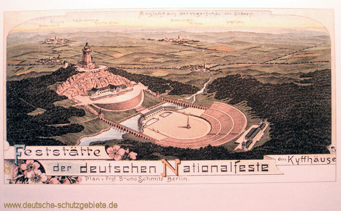 Kyffhäuser - Plan der Feststätte der deutschen Nationalfeste nach Prof. Bruno Schmitz