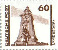 Kyffhäuserdenkmal, 60 Pfennig, Deutsche Post 1990