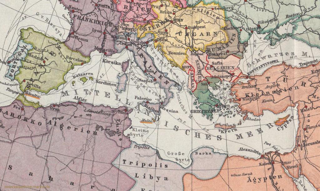 Mittelmeeranrainerstaaten 1914