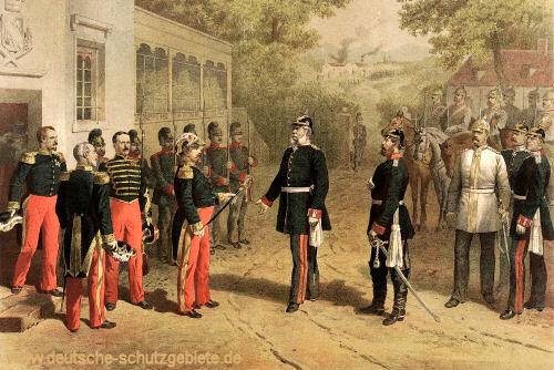 Napoleon III. vor König Wilhelm bei Sedan am 2. September 1870