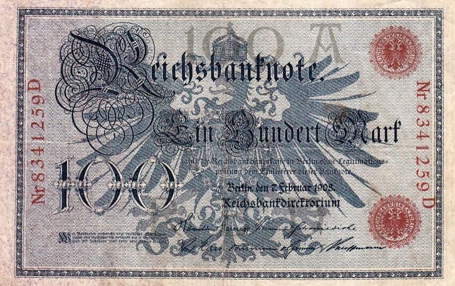 100 Mark Reichsbanknote, 1908