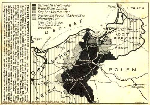 Der Verlust von Westpreußen und Posen an Polen 1919
