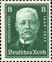 Hindenburg, 1927, 8 Pfennig