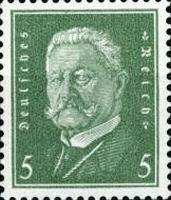 Hindenburg 1928, 5 Pfennig