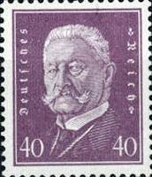 Hindenburg 1928, 40 Pfennig