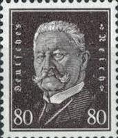 Hindenburg 1928, 80 Pfennig