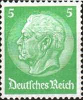 Hindenburg, 1932, 5 Pfennig