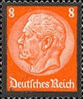 Hindenburg Ausgabe zum Tode mit Trauerrand 1934, 8 Pfennig