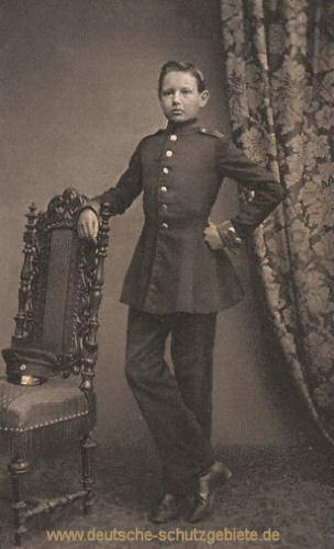 Hindenburg als Kadett in Wahlstatt 1860