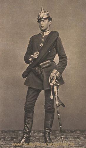Hindenburg als Leutnant im Dritten Garde-Regiment zu Fuss im Feldzug 1866