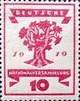 Nationalversammlung in Weimar 1919, 10 Pfennig