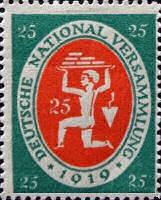 Nationalversammlung in Weimar 1919, 25 Pfennig