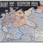 Deutschland Karte der Besatzungszonen (Karte der Militärregierung)