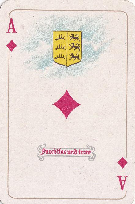Karo Ass (Württemberg - Furchtlos und trew [treu])