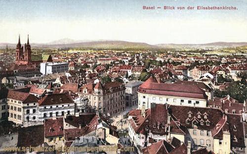Basel, Blick von der Elisabethenkirche
