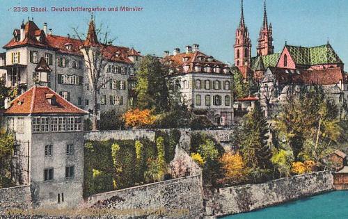 Basel, Deutschrittergarten und Münster