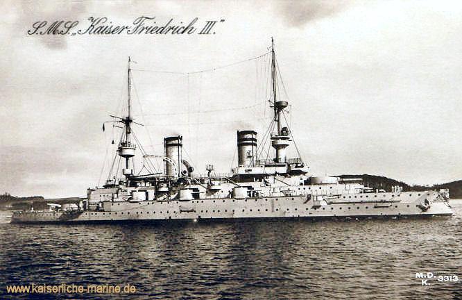 S.M.S. Kaiser Friedrich III., Linienschiff