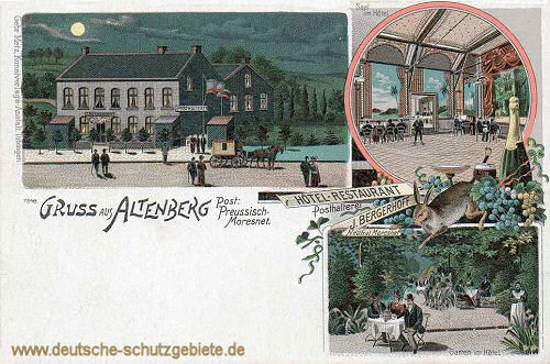 Altenberg, Post: Preussisch-Moresnet