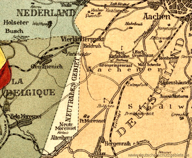 Der Vierländerpunkt bei Aachen mit Neutral-Moresnet