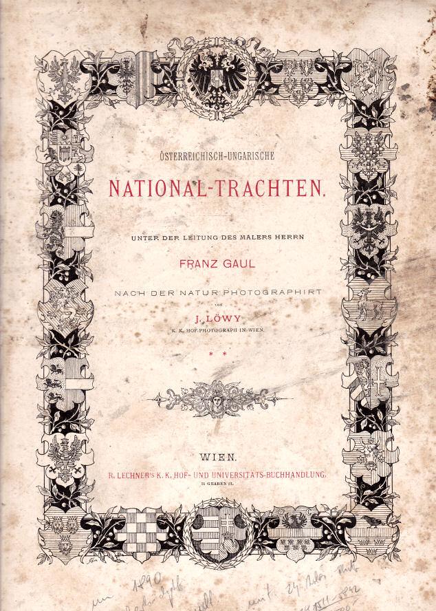 österreichisch-ungarische National-Trachten, Deckblatt