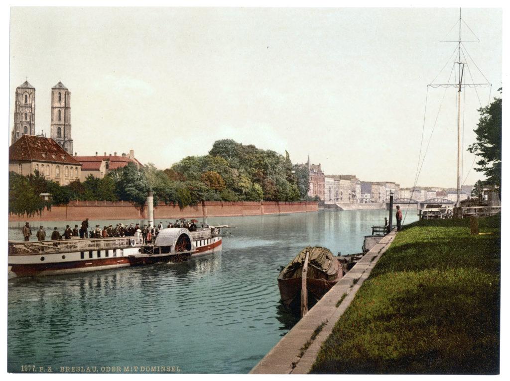 Breslau Oder mit Dominsel