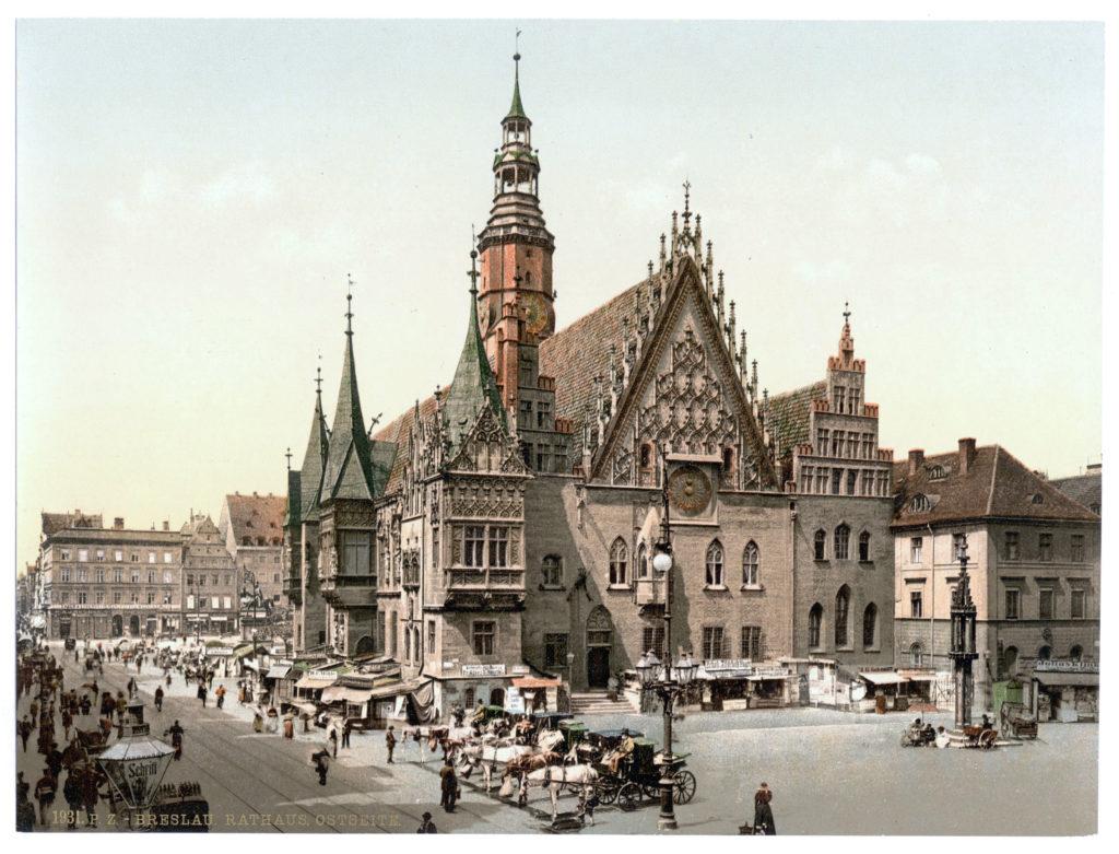 Breslau Rathaus Ostseite