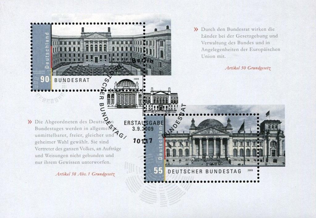 Bundesrat und Bundestag, Block Deutschland 2009