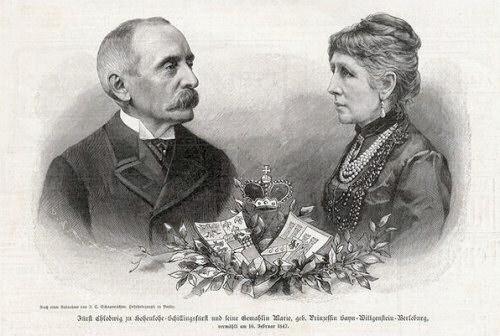 Fürst Chlodwig zu Hohenlohe-Schillingsfürst und seine Gemahlin Marie zu Sayn-Wittgenstein-Berleburg