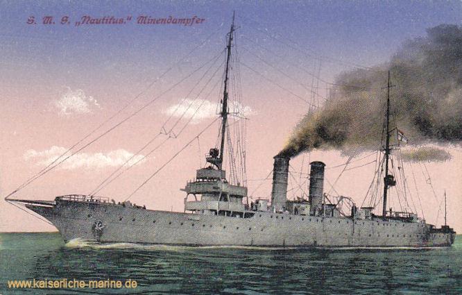 S.M.S. Nautilus, Minenschiff