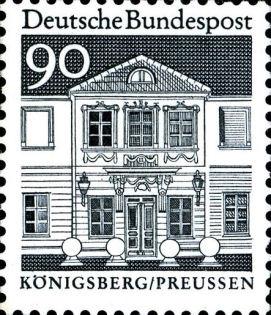 Königsberg/Preussen - Zschokkesches Stift, Deutsche Bundespost 90 Pfennig