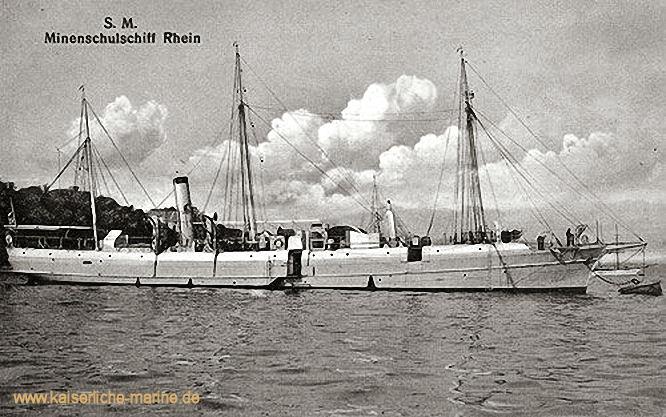 S.M.S. Rhein, Minenschulschiff