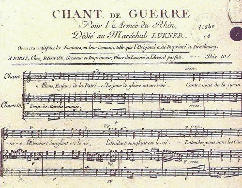 Chant de Guerre (Kriegslied)