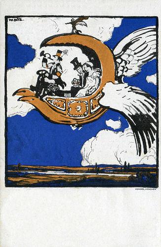 Flugpostkarte, Hochzeitsflug 1912