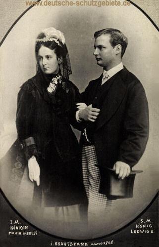 I.M. Königin Marie Therese und S.M. König Ludwig III. im Brautstand Anno 1868