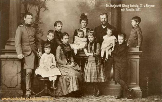 Seine Majestät König Ludwig III. von Bayern mit Familie 1887