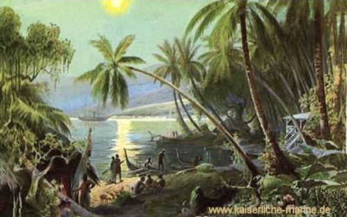 Mondschein im Hafen von Apia (Samoa)