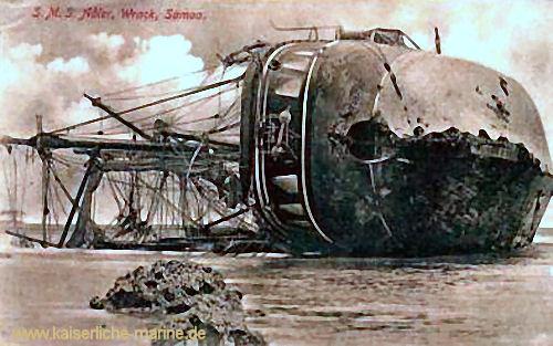 S.M.S. Adler, Wrack, Samoa