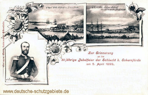 Hauptmann Jungmann, Schlacht bei Eckernförde am 5. April 1849