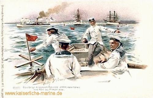 Deutsche Kriegsschiffe in Port au Prince