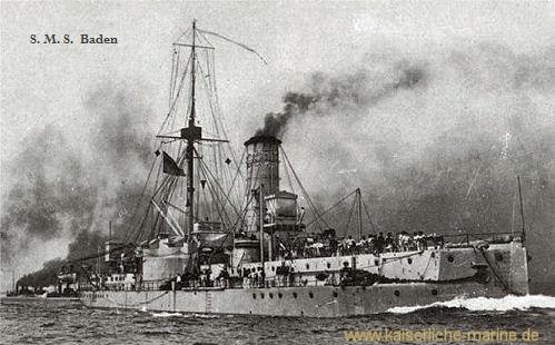 S.M.S. Baden nach dem Umbau von 1896/97