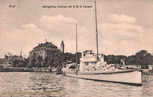 S.M.S. Carmen - Kiel, Königliches Schloss