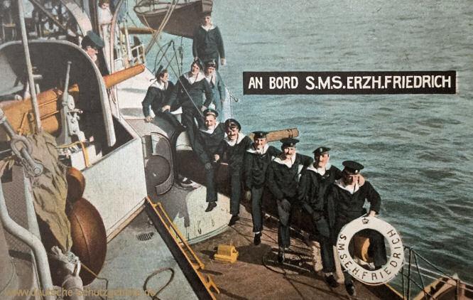 An Bord S.M.S. Erzherzog Friedrich