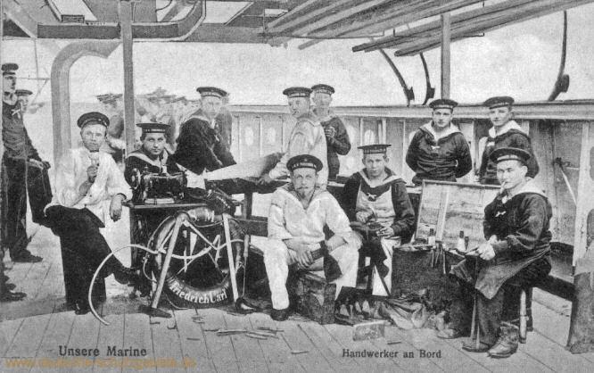 S.M.S. Friedrich Carl. Unsere Marine. Handwerker an Bord