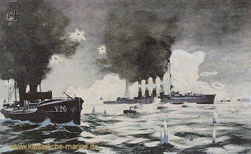 "S.M.S. Magdeburg und Torpedoboot ""V 26"