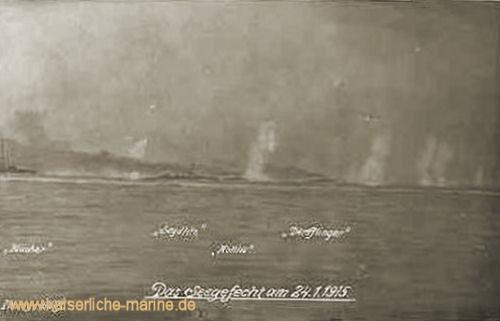 Das Seegefecht am 24.01.1915 - Blücher, Seydlitz, Moltke, Derfflinger