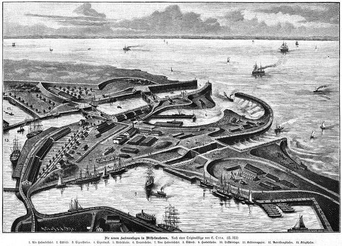 Die neuen Hafenanlagen in Wilhelmshaven