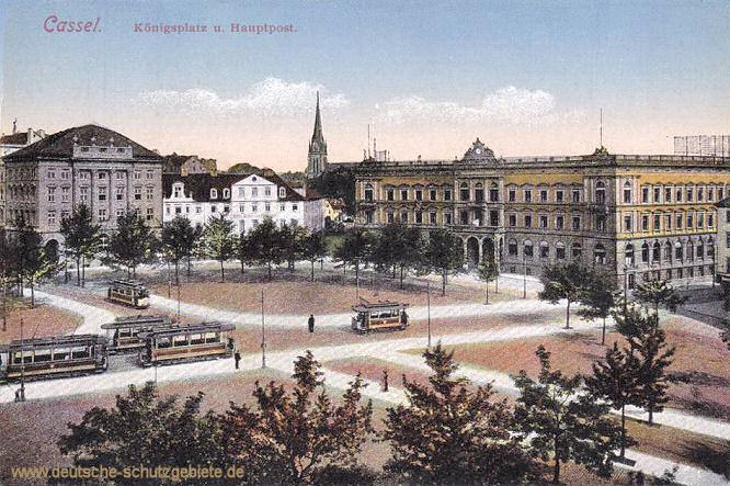 Kassel, Königsplatz und Hauptpost