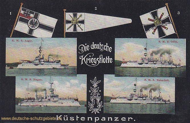 Küstenpanzer: S.M.S. Ägir, S.M.S. Odin, S.M.S. Hagen, S.M.S. Heimdall