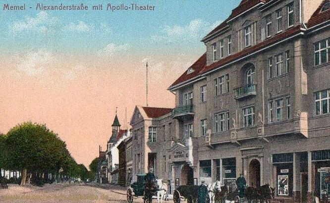 Memel, Alexanderstraße mit Apollo-Theater