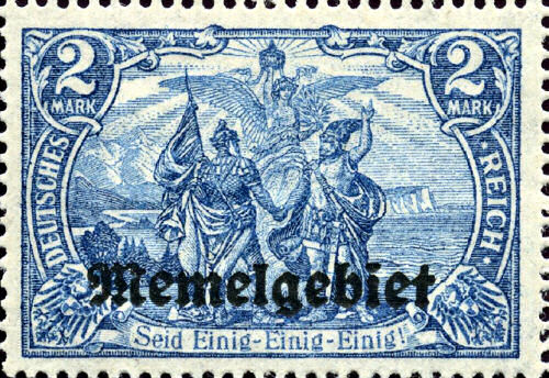 Memelgebiet 2 Mark, Briefmarke 1920